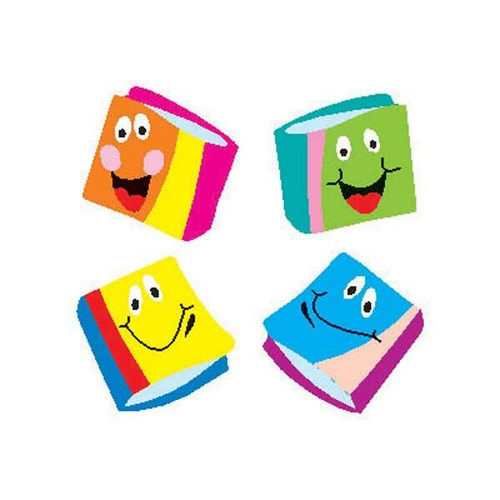 Trend Enterprises Inc 800 Happy Books superShapes teacher reward Stickers