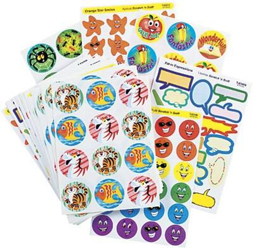 Trend Enterprises Inc Ultimate Assortment Pack 750 Scratch n Sniff Reward Stickers