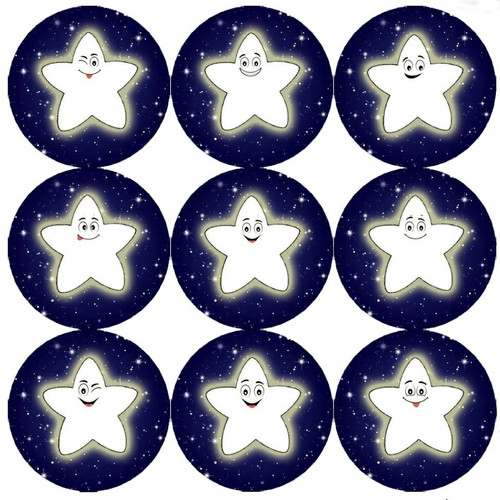 Sticker Stocker 144 Night Star 30mm Childrens Reward Stickers for Teachers or Parents