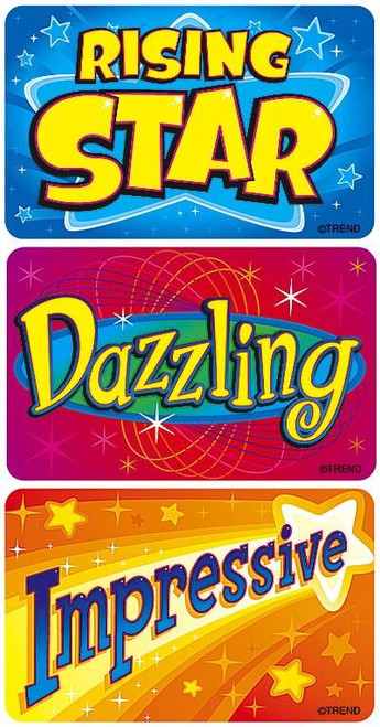 Trend Enterprises Inc TREND 30 Extra Large Star Achievers Applause reward stickers