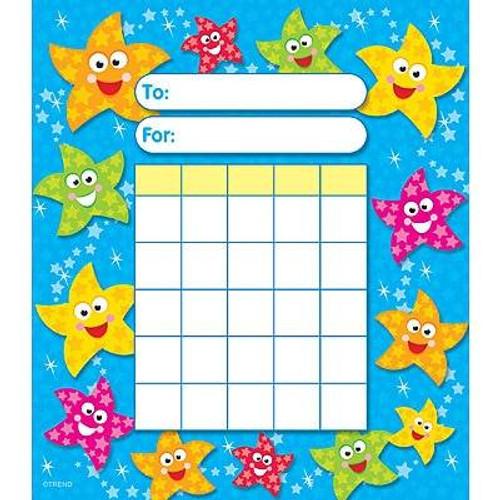 Trend Enterprises Inc Dancing Stars Incentive Chart Pad and 200 Free Reward Stickers