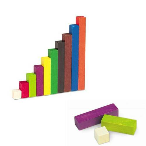 Learning Resources Learning Resources - 74 Cuisenaire Wooden rods and Tray Set