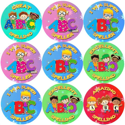 Sticker Stocker 144 Super Speller 30 mm Reward Stickers for School Teachers, Parents and Nursery