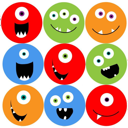 Sticker Stocker 144 Monster Smiles 30mm Childrens Reward Stickers for Teachers or Parents