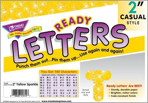 Trend Enterprises Inc Display Board Ready Letters - Sparkle Yellow 2 Casual