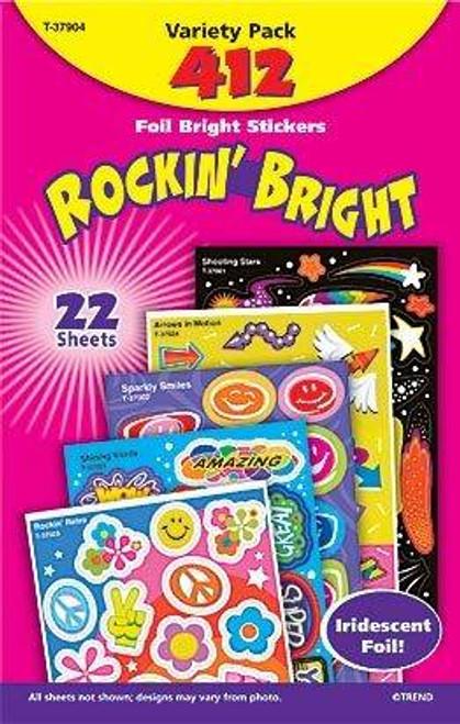 Trend Enterprises Inc Rockin Bright Foil Reward Sticker Variety Pack
