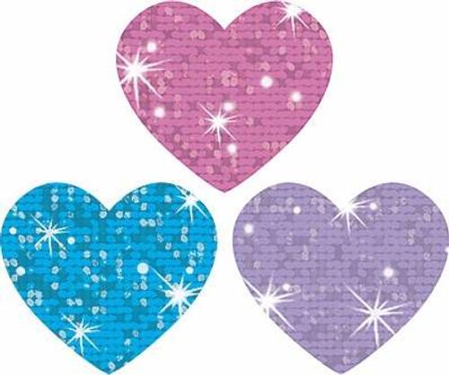Trend Enterprises Inc 100 Colourful Sparkle Hearts superShapes reward stickers