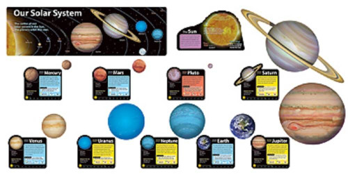 Trend Enterprises Inc Solar System Bulletin Board Pin up set T-8014 Classroom Display Set