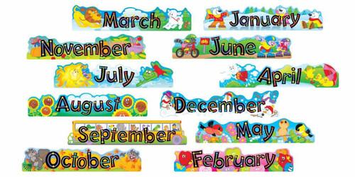 Trend Enterprises Inc Alpha-Beads 12 Monthly Headers Classroom Display set