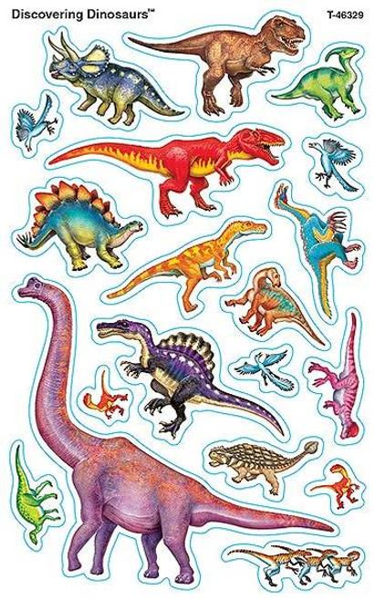Trend Enterprises Inc 152 Discovering Dinosaurs SuperShapes Teacher Reward Stickers - Large