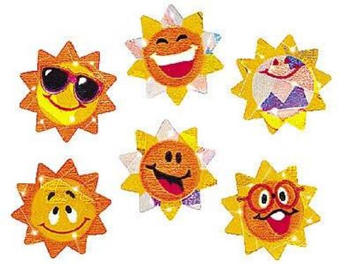 Trend Enterprises Inc 72 Sunny Smiles Sparkle Reward Stickers