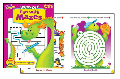 Trend Enterprises Inc Fun with Mazes Book Wipe Off Educational Activity Book
