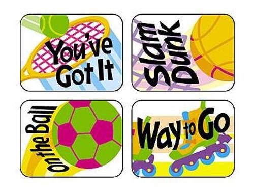 Trend Enterprises Inc TREND 100 Large Sports Rewards Applause reward stickers