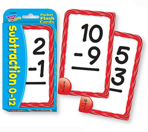 Trend Enterprises Inc Trend Teaching SUBTRACTION Educational Maths Pocket Flash Cards
