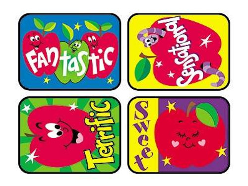 Trend Enterprises Inc TREND 100 Large Awesome Apples Applause reward stickers