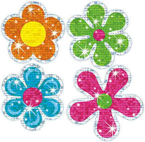 Trend Enterprises Inc TREND Flower Power Sparkle Reward Stickers