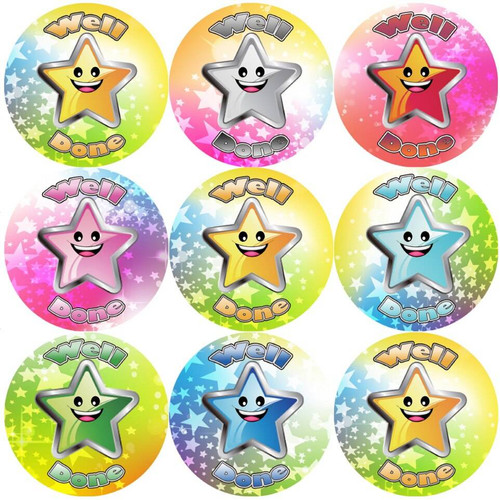 Sticker Stocker 144 Well Done 30 mm Reward Stickers for School Teachers, Parents and Nursery