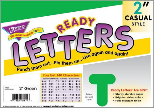 Trend Enterprises Inc Trend Display Ready Letters - Green 2 Casual