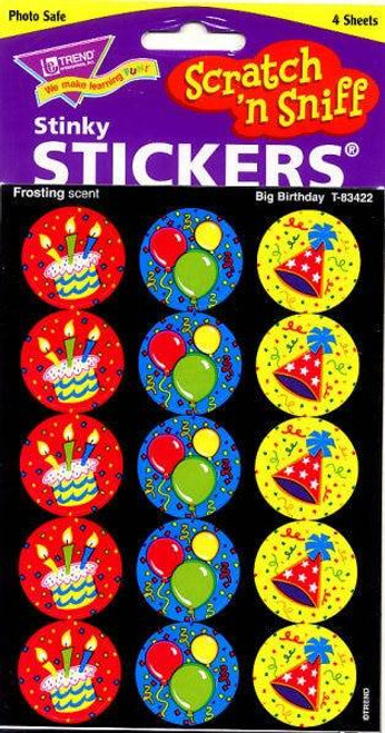 Trend Enterprises Inc 60 TREND Big Birthday Frosting Scratch n Sniff Stickers