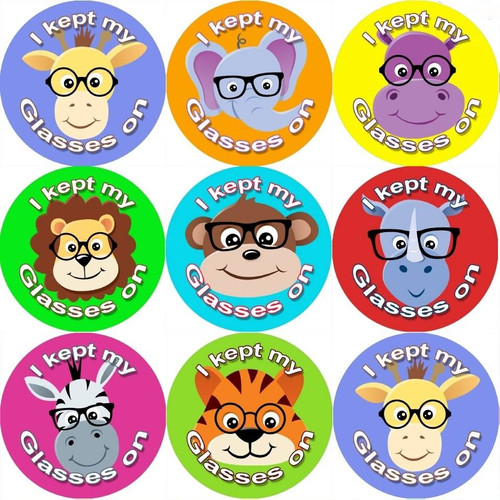 Sticker Stocker 144 I Kept my Glasses on 30mm Stickers for Teachers, Parents and Party Bags