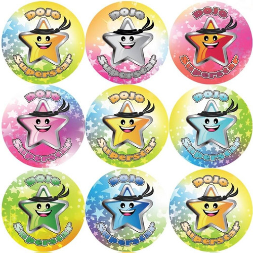 Sticker Stocker 144 Dojo Superstar 30 mm Reward Stickers for Teachers, Parents and Party Bags