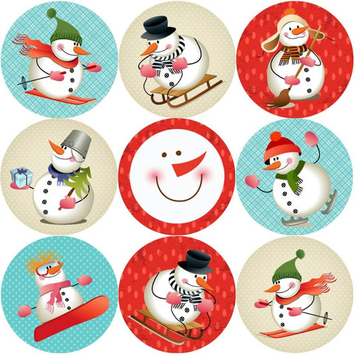 Sticker Stocker 144 Snowman Adventure 30mm Childrens Christmas Reward Stickers for Teachers or Parents