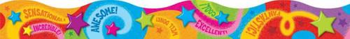 Trend Enterprises Inc Classroom Trimmers Notice Board Display Borders - Praise Words