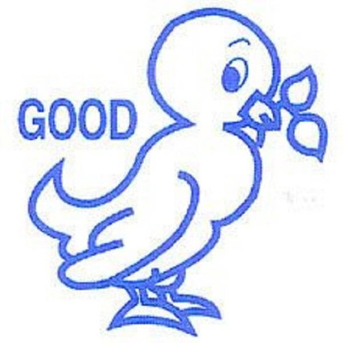 XStamper Good blue duck - Self inking teacher reward xstamper xclamations stamp