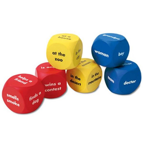 Learning Resources Learning Resources Soft Foam Story Starter Words Cubes, set of 6