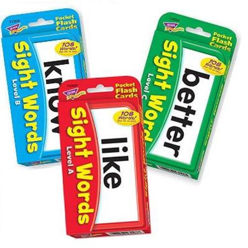 Trend Enterprises Inc Trend SIGHT WORDS Combo Pack - Educational Pocket Flash Cards