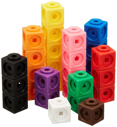 Learning Resources Mathlink Cubes Set of 100 Maths Link by Learning Resources