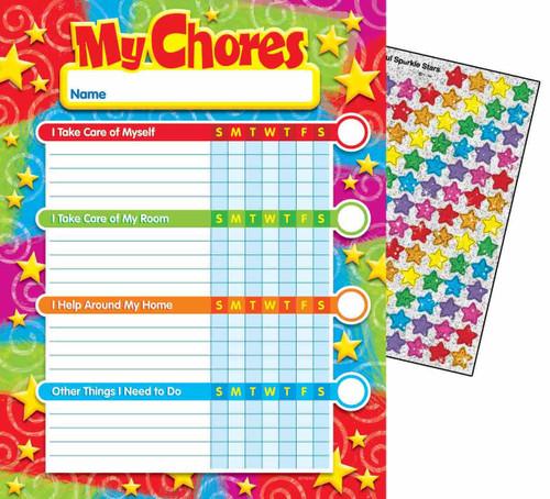 Trend Enterprises Inc Stars n Swirls Progress Chore reward Chart