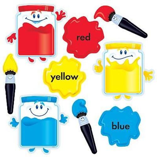 Trend Enterprises Inc Colour time Paints Bulletin Board Classroom Display set