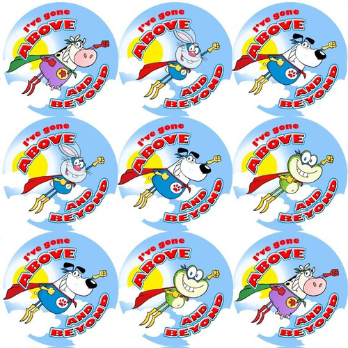 Sticker Stocker 144 Ive Gone Above and Beyond 30mm Reward Stickers for Teachers or Parents