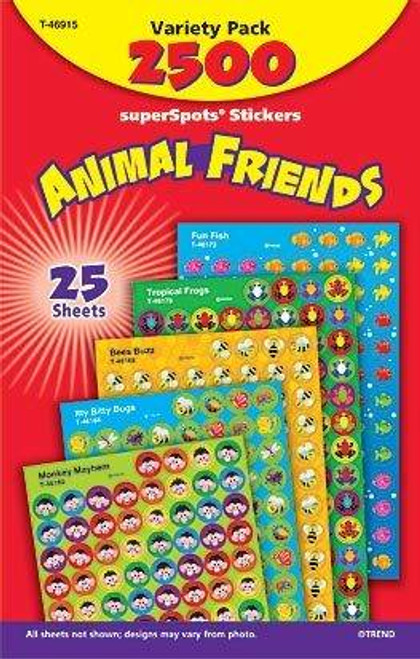 Trend Enterprises Inc 2500 TREND Animal friends superShapes reward Stickers