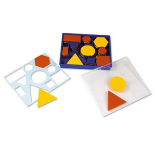 Learning Resources Learning Resources - Attribute Blocks Desk Set inc Storage Tray