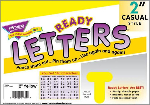 Trend Enterprises Inc Trend Display Ready Letters - Yellow 2 Casual