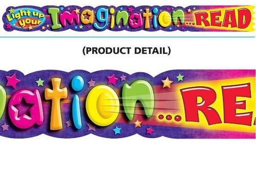 Trend Enterprises Inc Light up your imaginationREAD 10ft Classroom Display Banner
