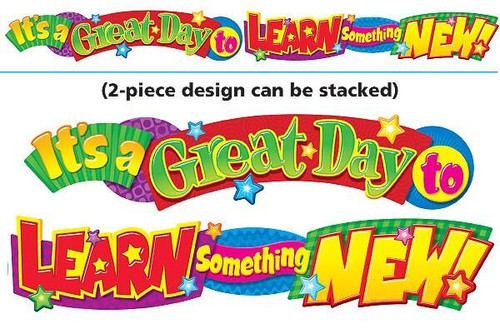 Trend Enterprises Inc Its a great day to learn - 10ft Classroom Display Banner