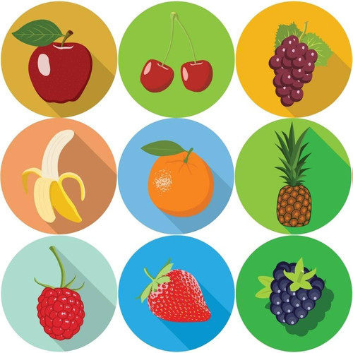 Sticker Stocker 144 Fruits 30mm Reward Stickers for Teachers, Parents and Party Bags