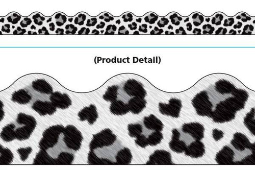 Trend Enterprises Inc Classroom Trimmers Notice Board Display Borders - Leopard White