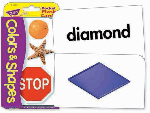 Trend Enterprises Inc Trend TEACHING COLOURS and SHAPES Educational Pocket Flash Cards