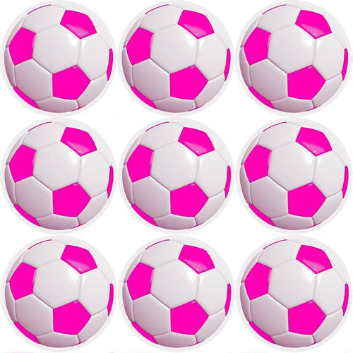 Sticker Stocker 144 Pink Football 30mm Childrens Reward Stickers for Teachers or Parents and Party Bags