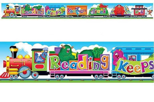 Trend Enterprises Inc Furry Friends Reading Train - 10ft Classroom Display Banner