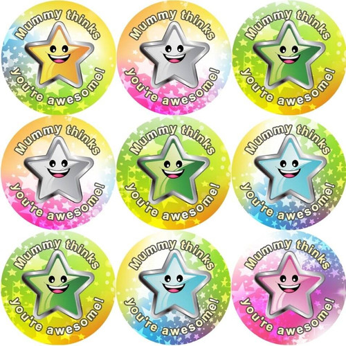 Sticker Stocker 144 Mummys Superstar 30mm Reward Stickers for School Teachers, Parents and Nursery