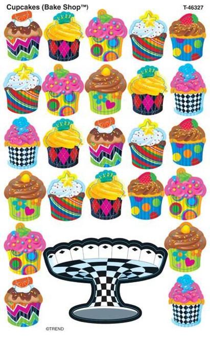 Trend Enterprises Inc 200 Cupcakes The Bake Shop SuperShapes Teacher Reward Stickers - Large