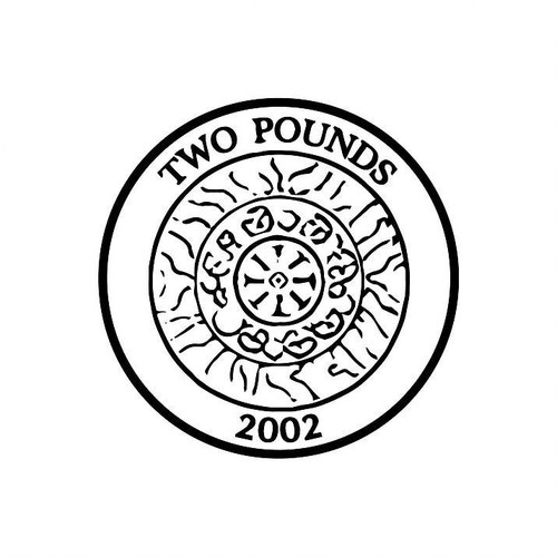 XStamper UK Currency pound2 two Pound Coin - Self inking teacher reward xstamper xclamations stamp