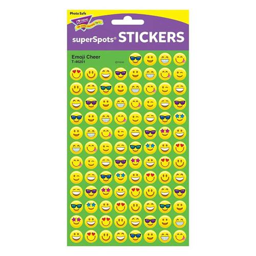 Learning Resources 800 Emoji Cheer superSpots Reward Stickers for Parent/Teacher