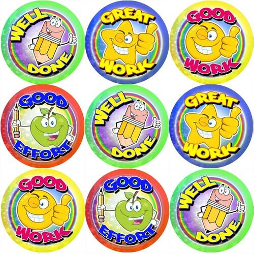 Sticker Stocker 144 Good Work 30mm Reward Stickers for Teachers, Parents and Party Bags