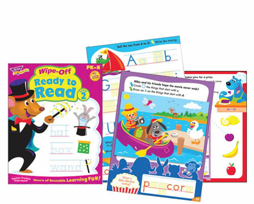 Trend Enterprises Inc Ready to Read Level 2 Wipe Off Educational Activity Book